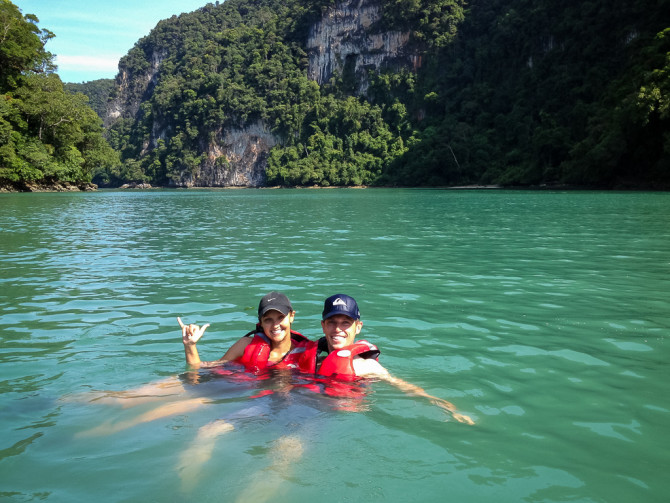 Landon Alyssa Swimming in the Open Water in Langkawi