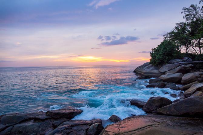 Sunset Geocache Karon Beach