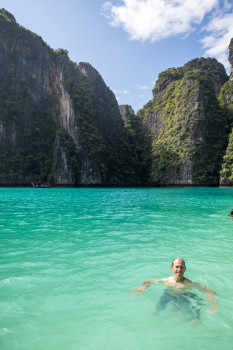 Landon Swimming in Blue Water Phi Phi
