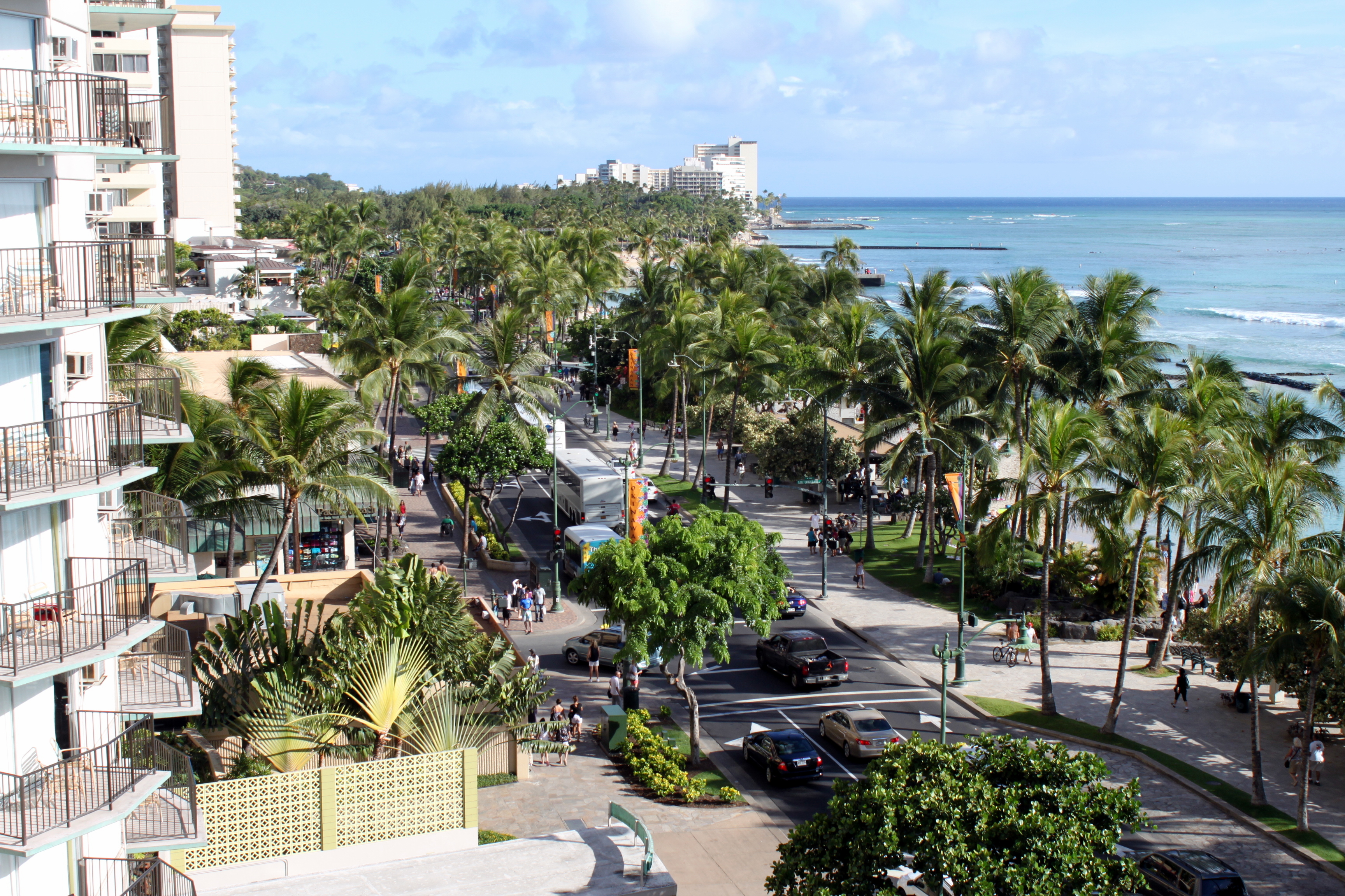 View of Waikiki Beach in Hawaii